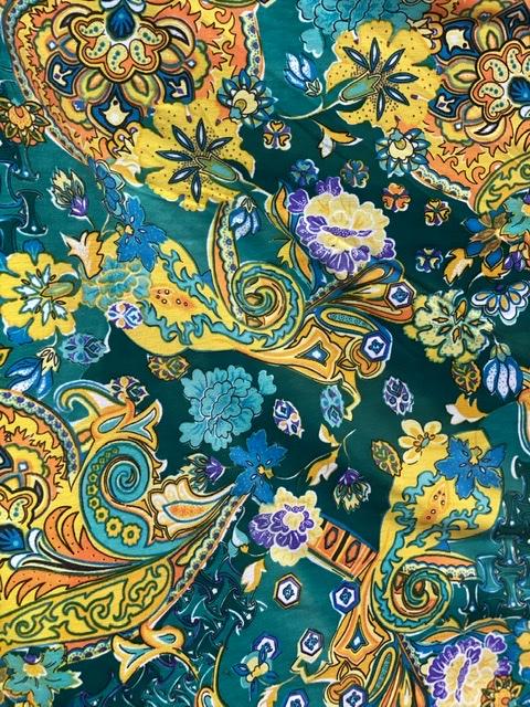 yellow green stretch fabric