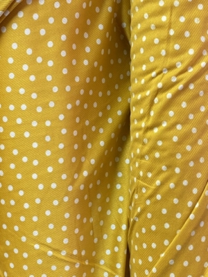 yellow spots fabric