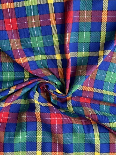 multi colour check fabric