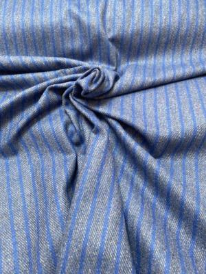 blue gray pin stripe fabric