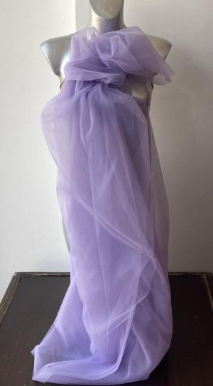 purple tulle fabric
