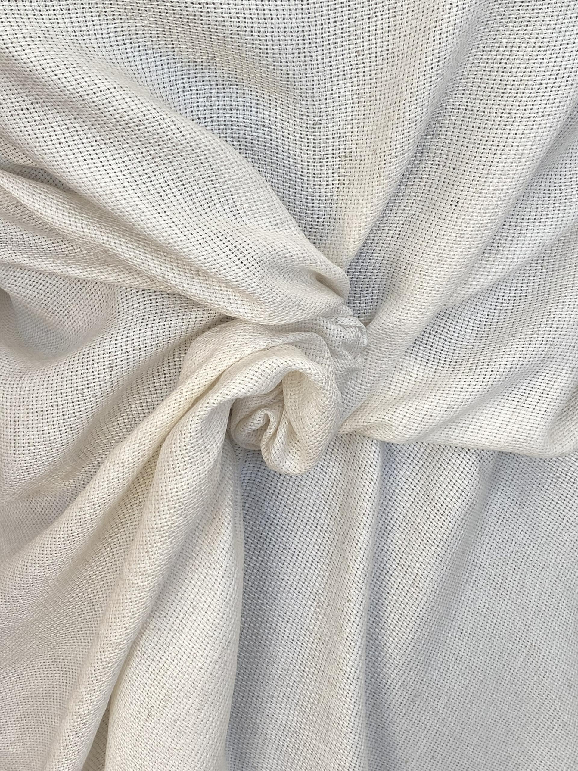 natural gauze type fabric
